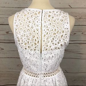 Lilly Pulitzer Dresses - Lilly Pulitzer White Eyelet Lace Flare Dress